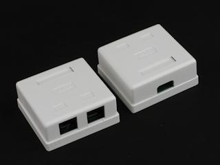 Netrack zásuvka kompletní na omítku 2xRJ45 8p8c UTP Cat5e LSA