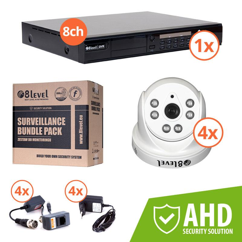 8level KIT AHD camera 4xAHD-I720-363-3 1xDVR-AHD-1080P-081-1