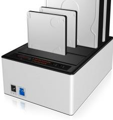 IcyBox Docking and Clone Station for 4x 2.5'' & 3,5'' HDD SATA, USB 3.0, JBOD