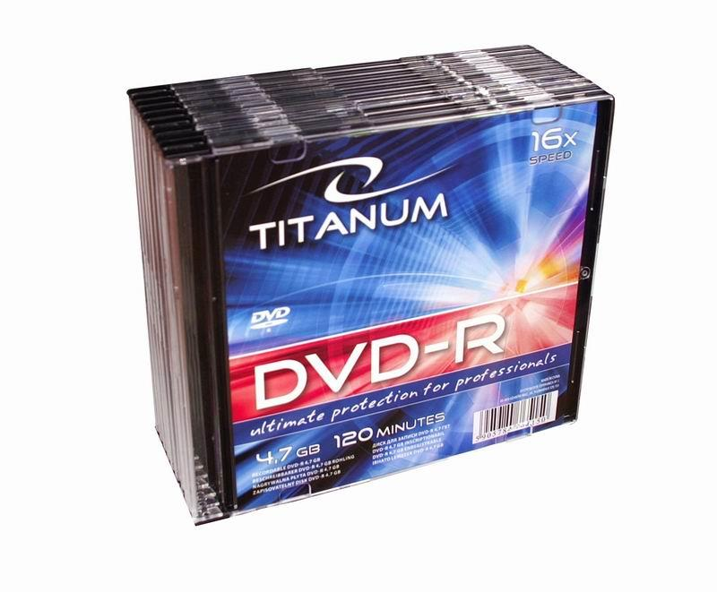 Titanum DVD-R [ slim jewel case 10 | 4.7GB | 16x ]
