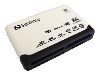 Sandberg multi čtečka paměťových karet, USB 2.0, bílo-černá