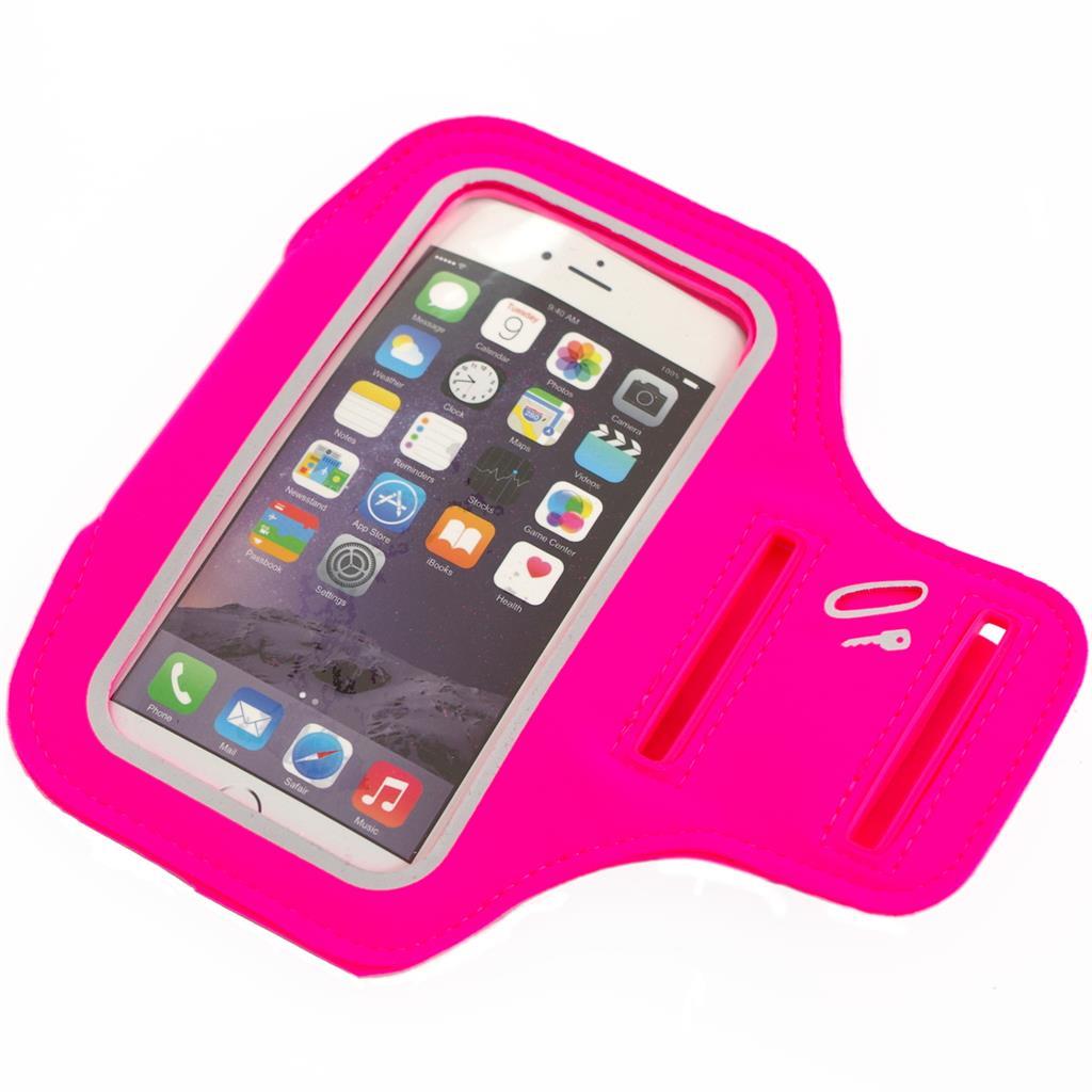 PowerNeed Sunen Sportovní popruh na paži pro běžce - iPhone 6/6s, růžové