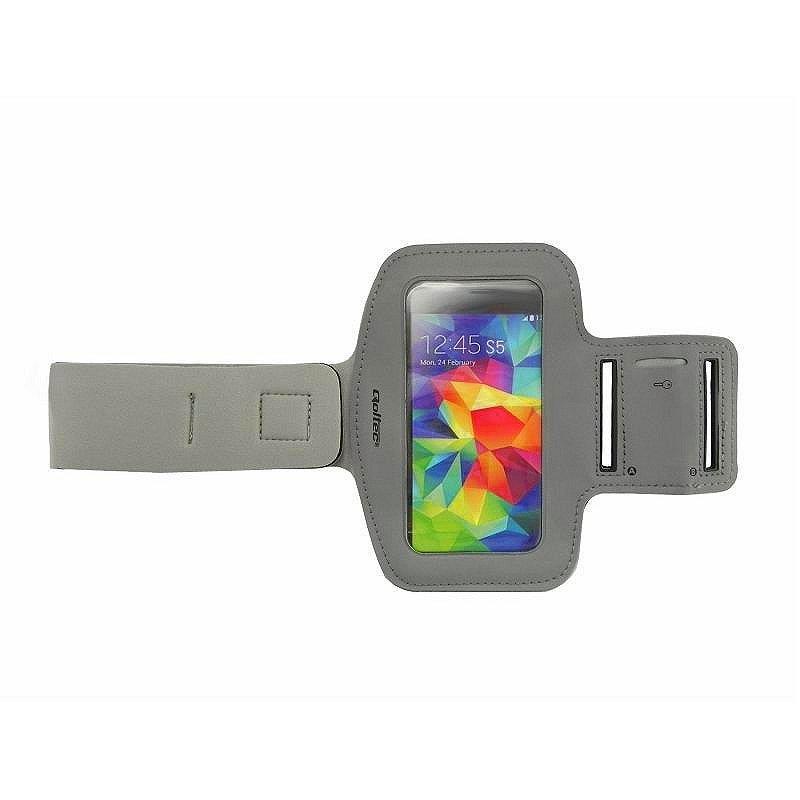 Qoltec Sportovní Armband smartphone max.5'' šedá