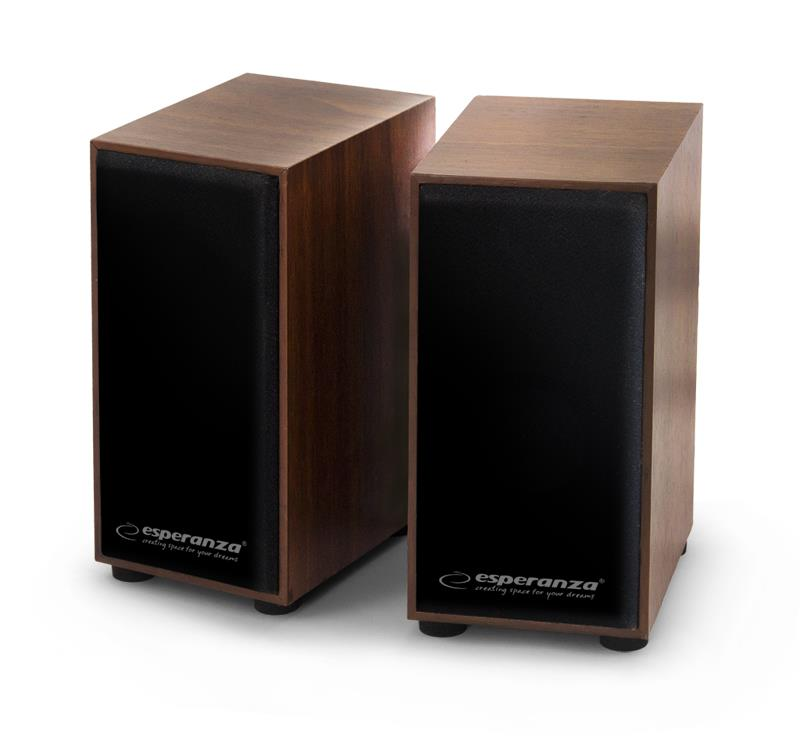 Esperanza EP122 FOLK reproduktory 2.0, 2 x 3W, dřevěné