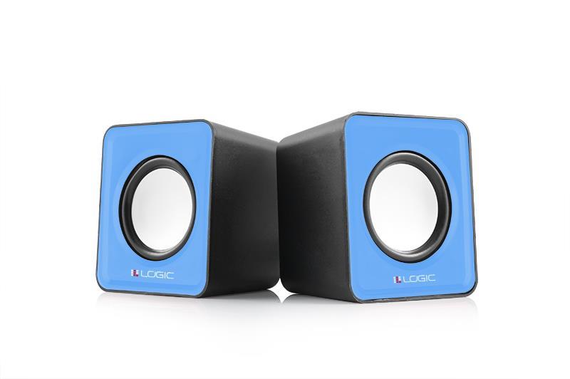 LOGIC reproduktory LS-09 [ 2.0 stereo ] modré