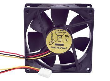Gembird ventilátor pro PC case, 80x80mm, 3-pin, kuličkové ložisko