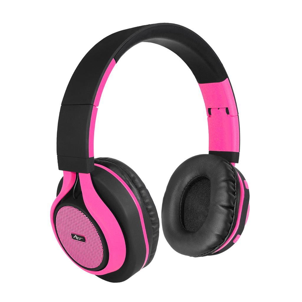 ART Bluetooth Headphones with microphone AP-B04 black/pink