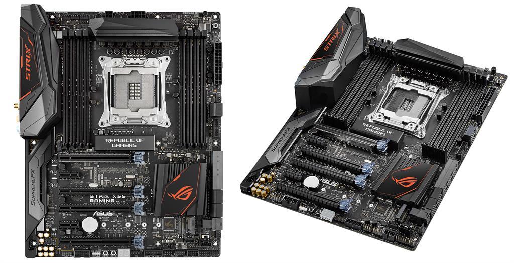 ASUS STRIX X99 GAMING, X99, QuadDDR4-2133, SATAe, SATA3, M.2, USB 3.1, ATX