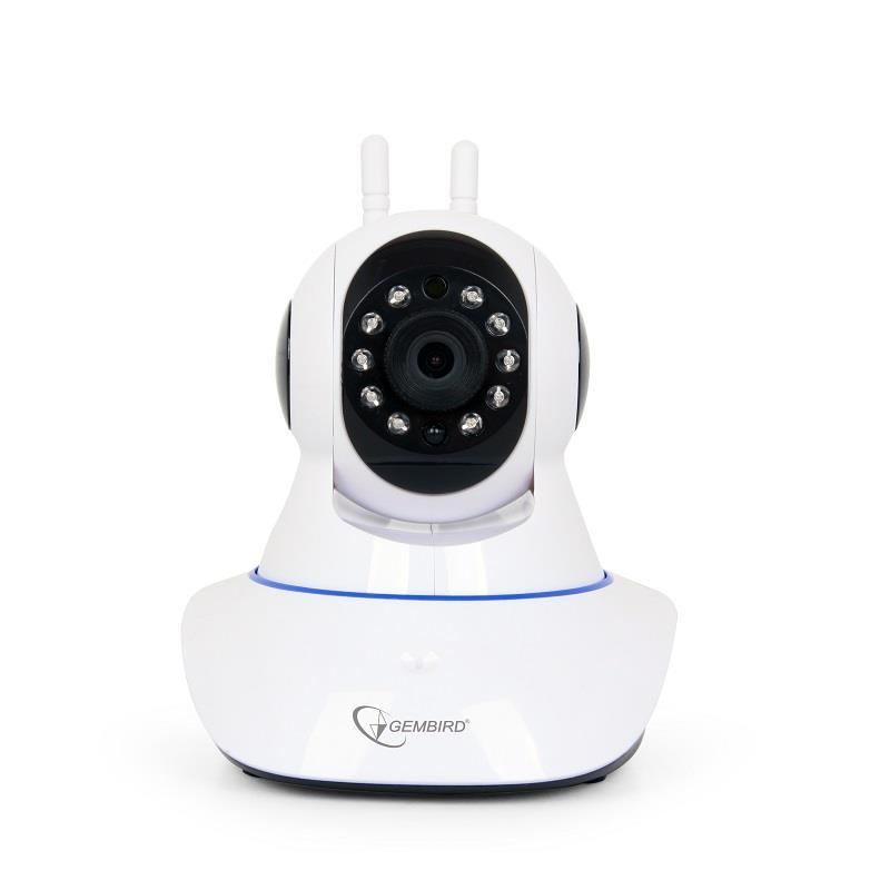 Gembird HD WiFi kamera rotující, bílá