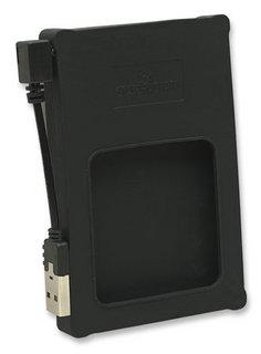 Manhattan Externí box na 2.5'' SATA HDD, USB 2.0, černý, silikon