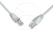 Patch kabel CAT5E UTP PVC 1m šedý snag-proof