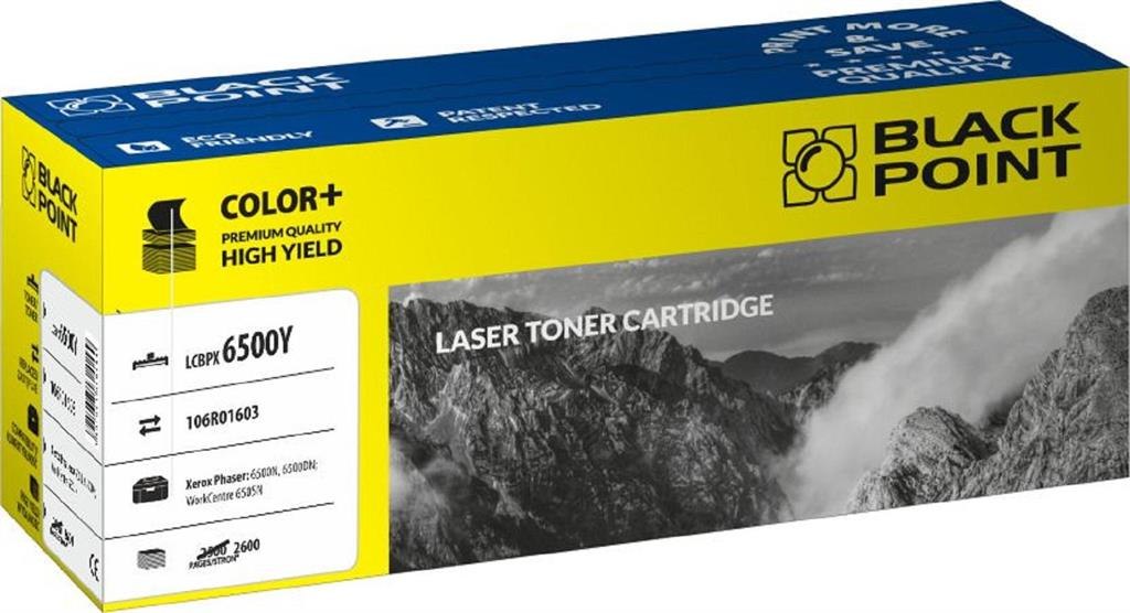 Toner Black Point LCBPX6500Y | yellow | 2 600 pp | Xerox 6500N / 6500DN / 6505N