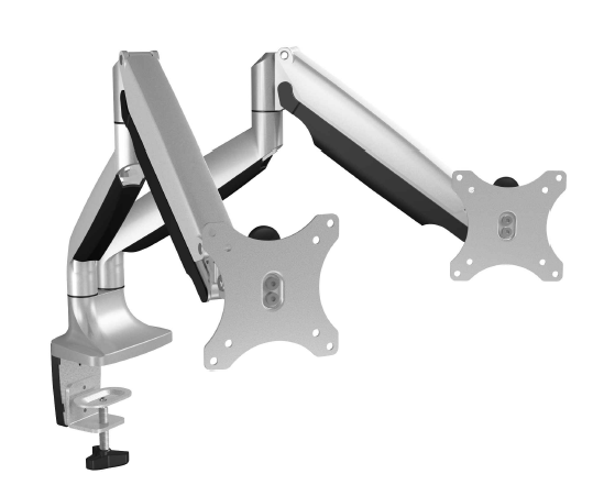 IcyBox Monitor stand with table support for two monitors up to 32'' (81 cm)