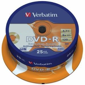 Verbatim - DVD-R 8x Archival Printable 25ks v cake obale