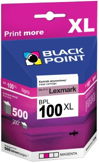 Ink Black Point BPL100MXL | Magenta | 10,5 ml | Lexmark 14N0901E