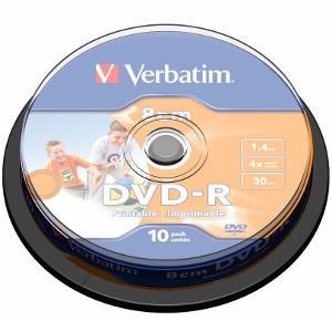 Verbatim mini DVD-R [ cakebox 10 | 1.4GB | 4x | printable ]