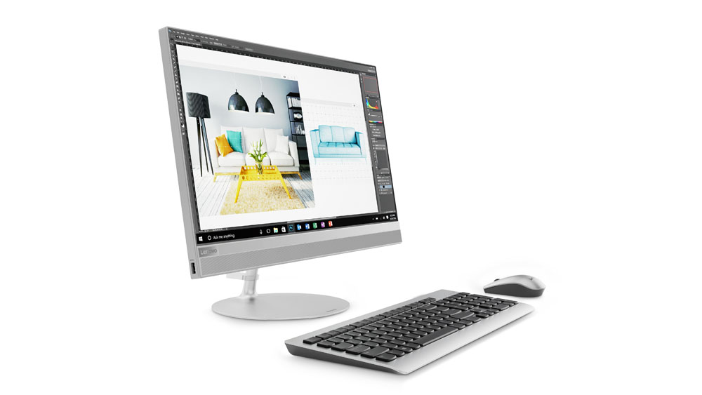 "Lenovo IdeaCentre AIO 520-27IKL i5-7400T 2,00GHz/8GB/SSD 128GB+1TB HDD/27"" QHD/AG/GeForce 2GB/WIN10 stříbrná"