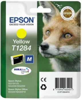 Inkoust Epson T1284 yellow   Stylus S22/SX125/SX425W/BX305F