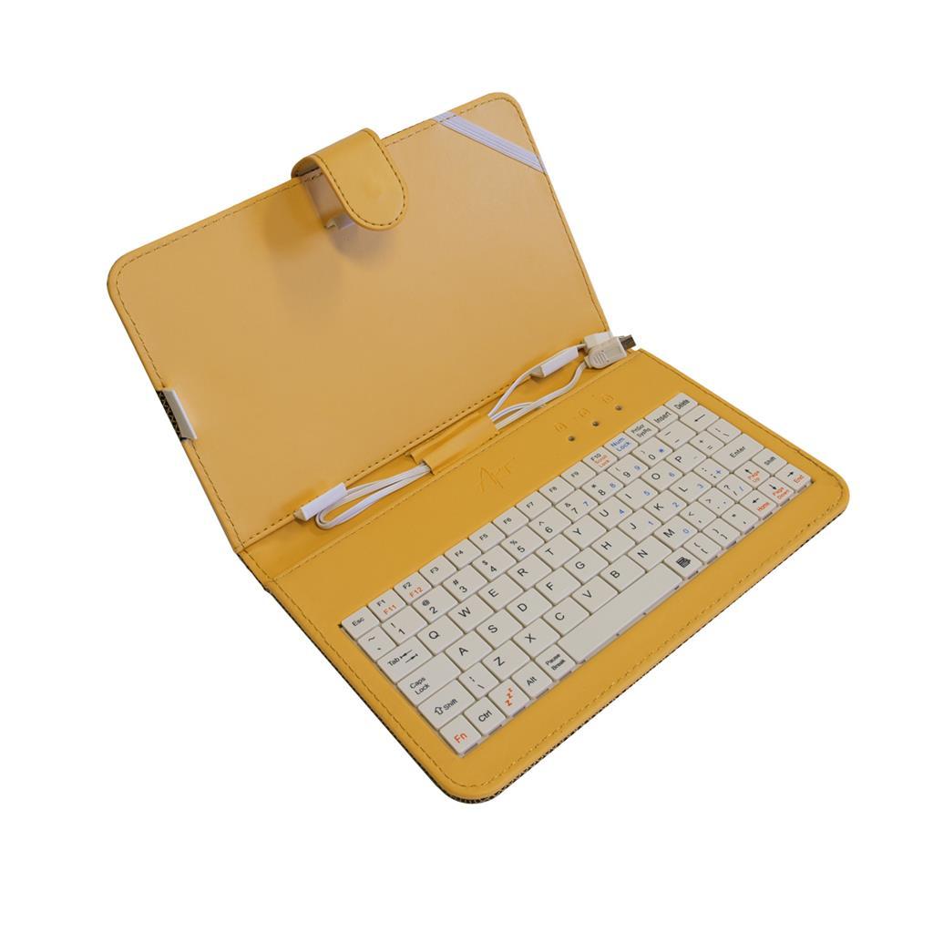 ART AB-101D pouzdro+ klávesnice micro+mini USB pro TABLET 7'' ,žluté