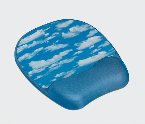 Fellowes gelová podložka pod myš Memory Foam, mraky