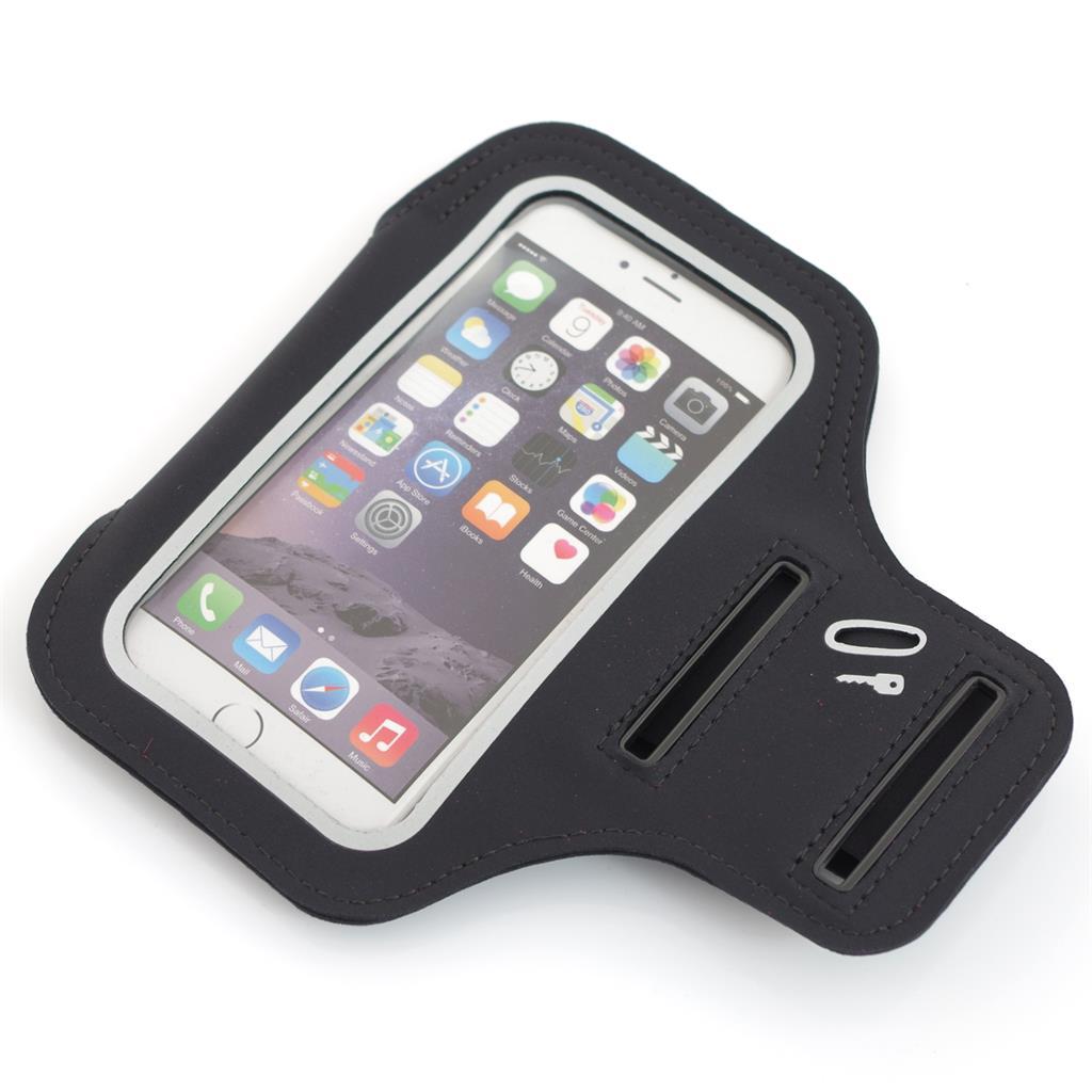 PowerNeed Sunen Sportovní popruh na paži pro běžce - iPhone 6/6s, černé