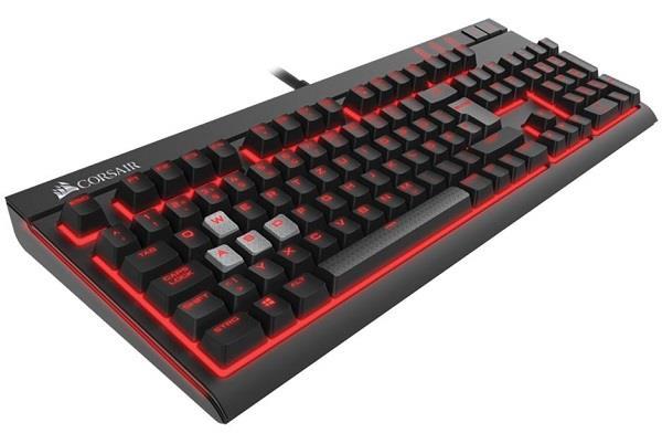 Corsair mechanická herní klávesnice STRAFE, podsvícená, Cherry MX červená, EU