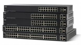 Cisco SF200-24FP-EU, 24x10/100, PoE 180W, Smart