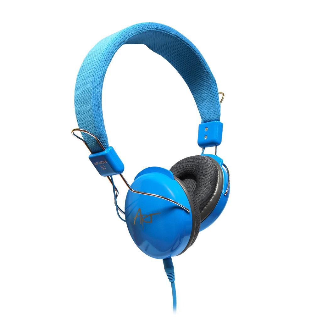 ART Multimedia Headphones STEREO with microphone AP-60MB blue