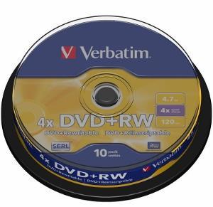 Verbatim DVD+RW [ cakebox 10 | 4.7GB | 4x ]