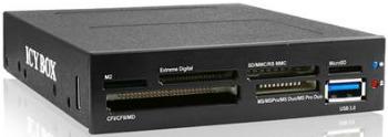IcyBox 3.5'' čtečka karet s multiport panelem, 60 podporovaných typů, USB3.0