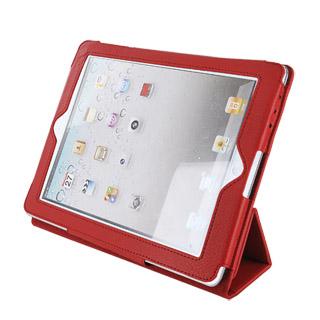 4World Pouzdro s nohou pro iPad 2/3/4, FOLDED STAND, červený