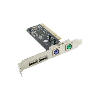4World 4-portový řadič Combo 2x USB 2.0 + 2x PS2 na kartě PCI