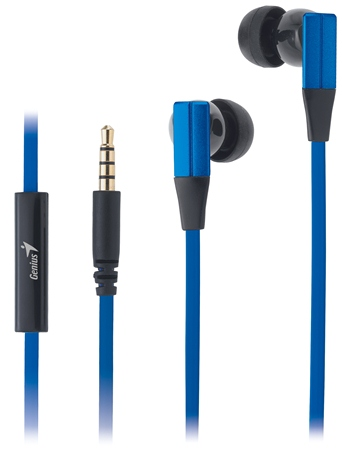 Genius headset - HS-M230 sluchátka s mikrofonem / modrá/ 4pin 3,5mm konektor