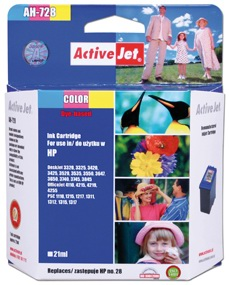 Inkoust ActiveJet AH-728   Color   21 ml   Refill   HP C8728A