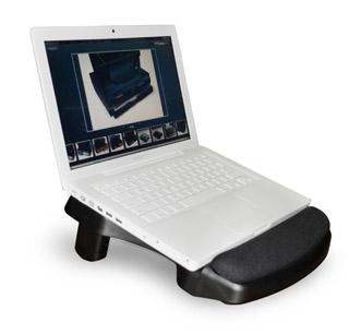 Exponent World Comfort stojan pod notebook s podporou zápěstí, černý