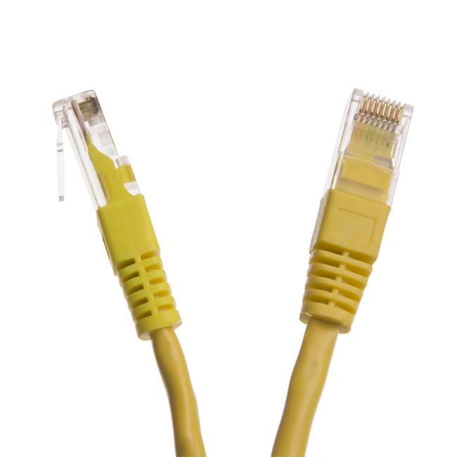 Digitalbox START.LAN patch kabel UTP cat.5e pozlacený 10m žlutý