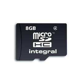 INTEGRAL Micro SDHC karta 8GB Class 4 + SD Adaptér