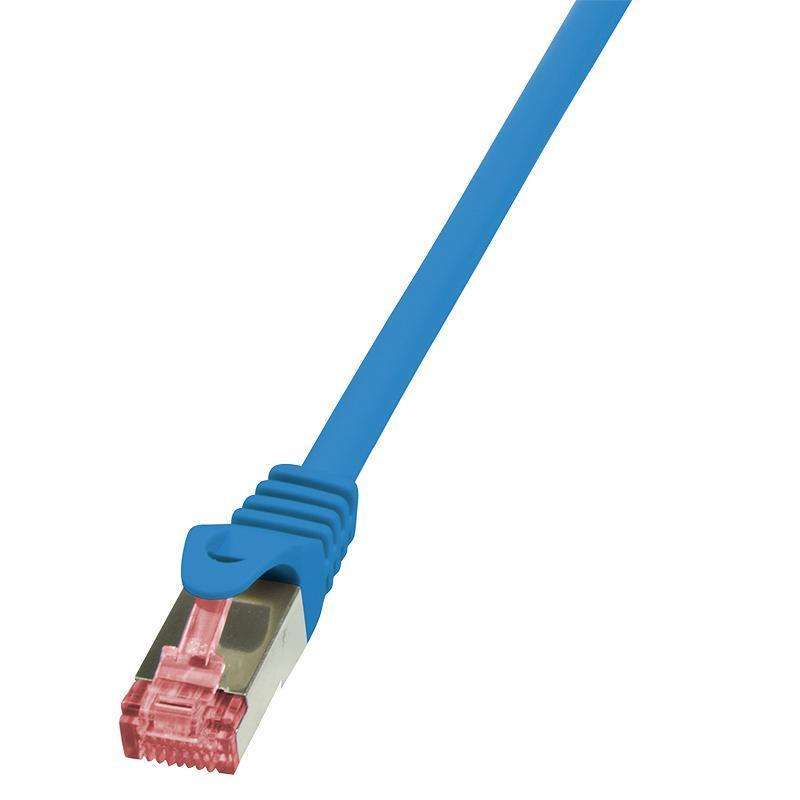 LOGILINK - Patch kabel Cat.6 S/FTP PIMF PrimeLine 0,5m modrý