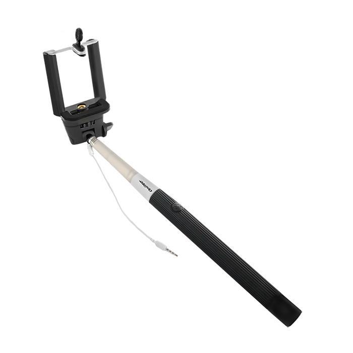 Qoltec univerzální Monopod pro selfie | černá | max.100cm