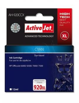 Ink ActiveJet AH-920CCX   Cyan   12 ml   HP HP 920XL CD972AE