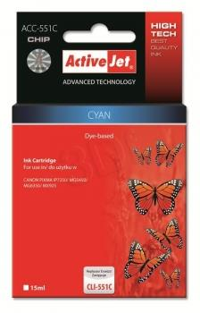 ActiveJet ink cartr. Canon CLI-551C premium with chip - 10 ml AC-551CR