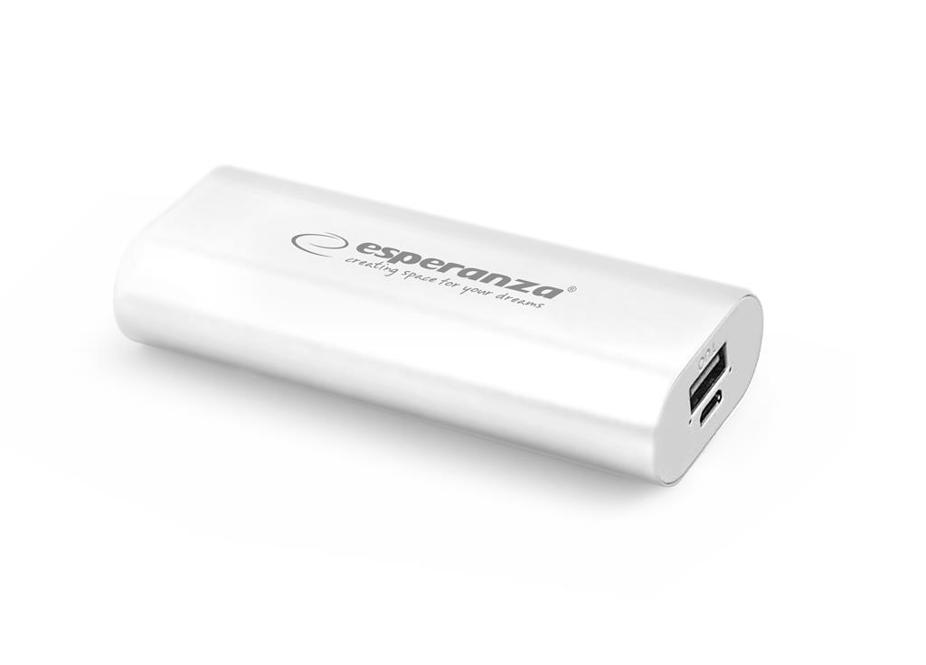 Esperanza EMP105W HADRON externí baterie 4400mAh, bílá