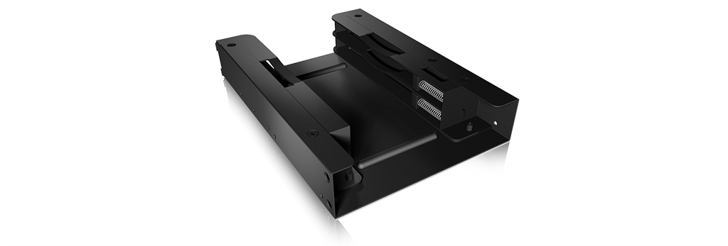 IcyBox Internal Mounting frame 3,5 '' for 2x 2.5' SSD/HDD, Black