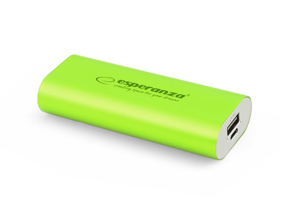 Esperanza EMP105G HADRON externí baterie 4400mAh, zelená