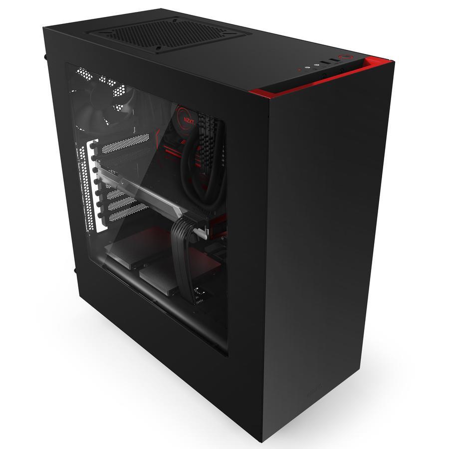 NZXT PC skříň S340 černo-červená