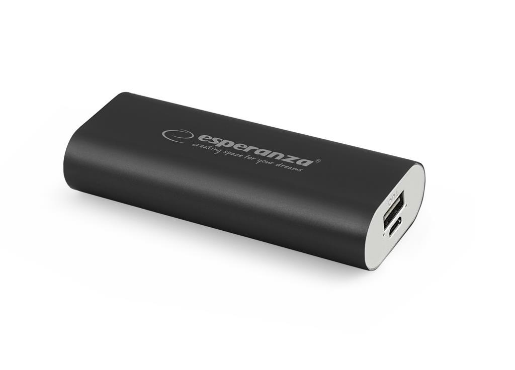 Esperanza EMP105K HADRON externí baterie 4400mAh, černá