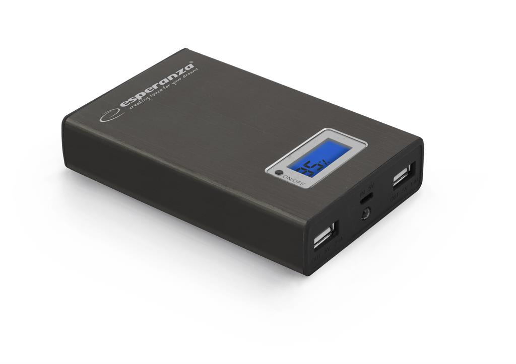 Esperanza EMP108K KINETIC externí baterie 8400mAh, černá