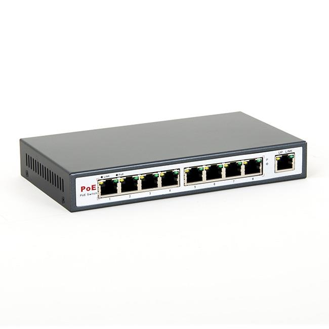 8level FEPS-1908 Switch PoE 9-ports 10/100 (8 ports PoE,15.5 W/Port ,max 130W)