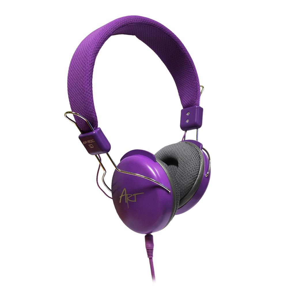 ART Multimedia Headphones STEREO with microphone AP-60MC purple