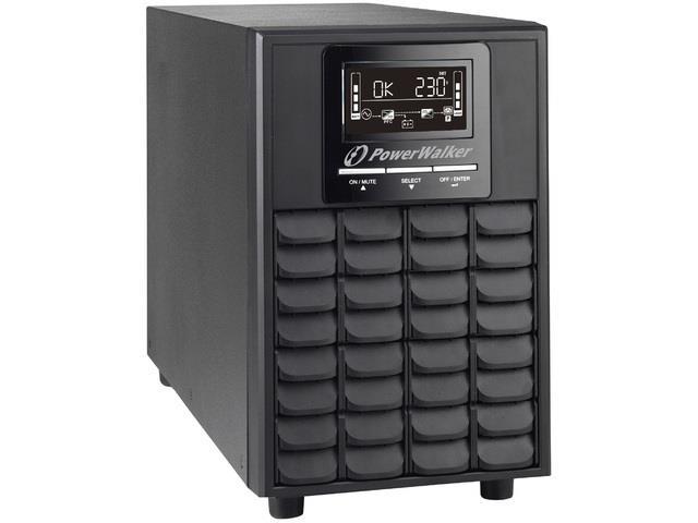 Power Walker UPS On-Line 1/1 Phase 1000VA, PF1, 4x IEC C13, USB/RS-232, EPO, LCD